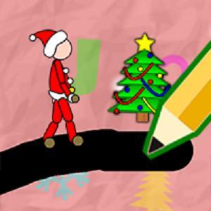 Xmas Draw Draw The Way To Reach The Christmas Tree